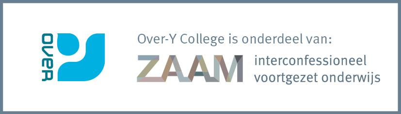 logo van het Over-Y College met het logo van de moederorganistatie ZAAM